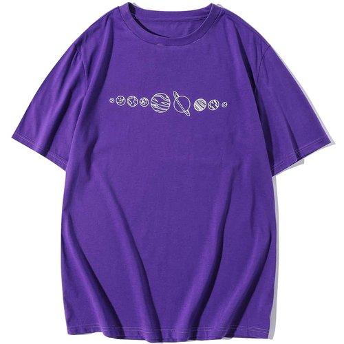 T-shirt avec imprimé planète - SHEIN - Modalova