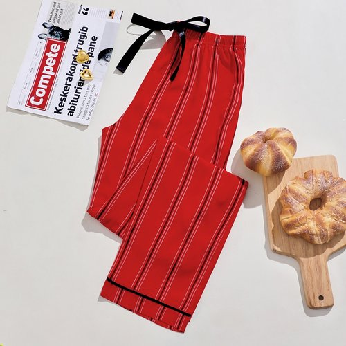 Bas de pyjama Nœud Casual Rayé - SHEIN - Modalova