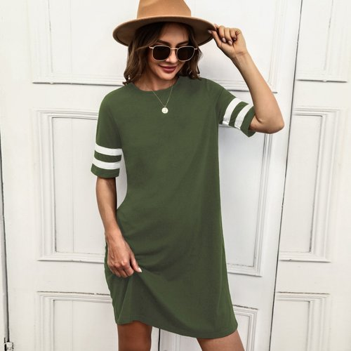 Robe t-shirt à rayures - SHEIN - Modalova