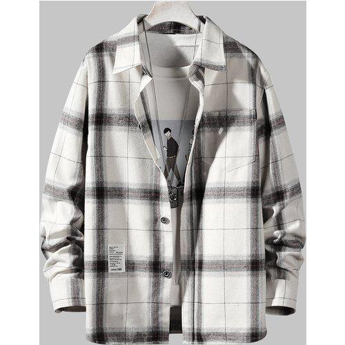 Chemise en flanelle à carreaux - SHEIN - Modalova