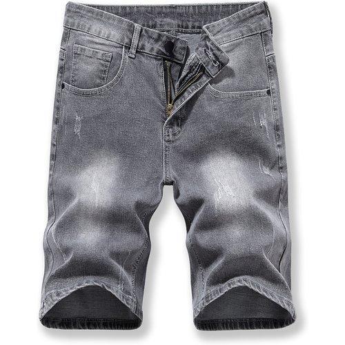 Short en jean lavé déchiré - SHEIN - Modalova