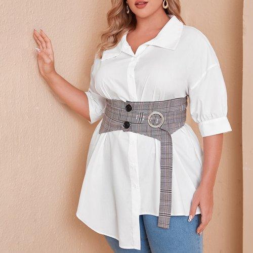 Blouse avec corset - SHEIN - Modalova