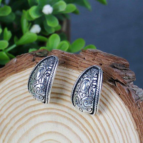 Boucles d'oreilles en métal texturé - SHEIN - Modalova