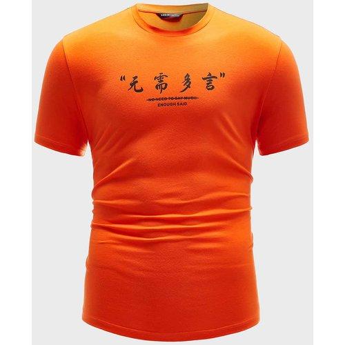 T-shirt fluo avec motif slogan - SHEIN - Modalova
