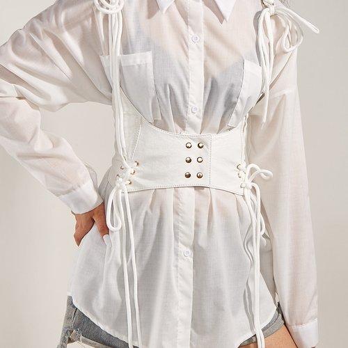 Ceinture corset à lacets - SHEIN - Modalova