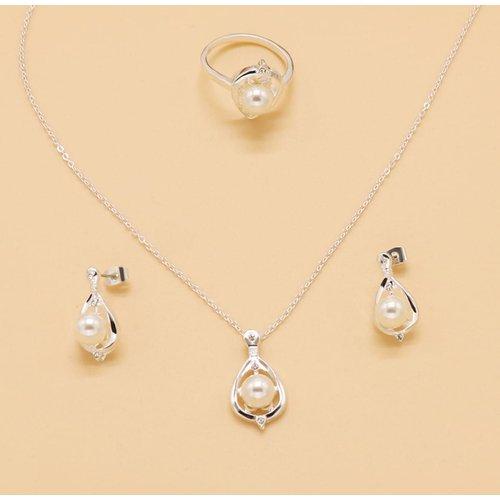 Collier à perle & Bague & 1 paire Boucles d'oreilles - SHEIN - Modalova