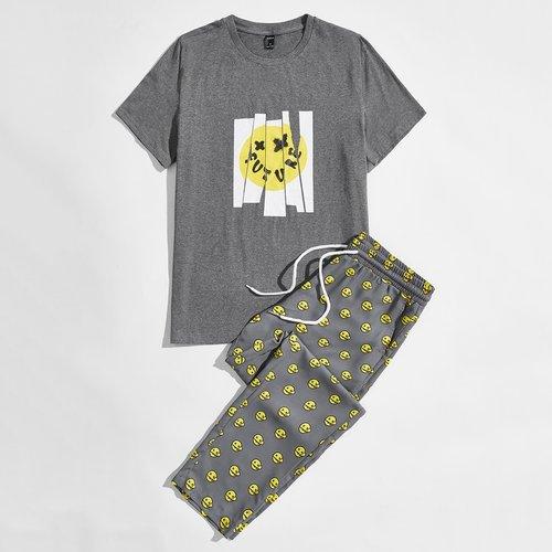 Dessin animé T-shirt & Pantalon Ensemble de pyjama - SHEIN - Modalova