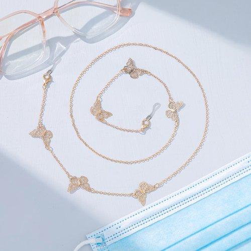 Chaîne de lunettes à papillon - SHEIN - Modalova
