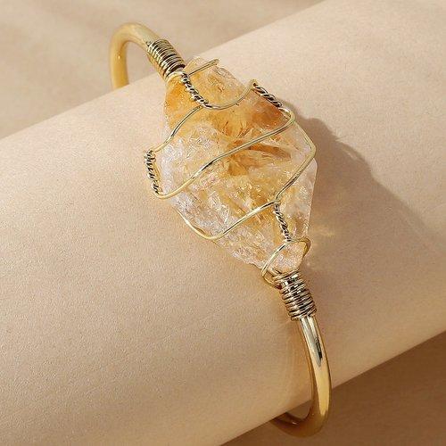 Bracelet en plaqué or à pierre - SHEIN - Modalova