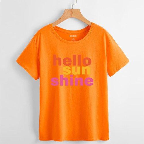 T-shirt slogan - SHEIN - Modalova
