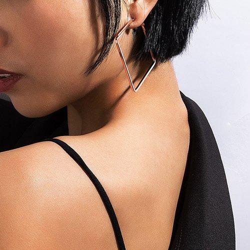 Boucles d'oreilles carrées en métal - SHEIN - Modalova