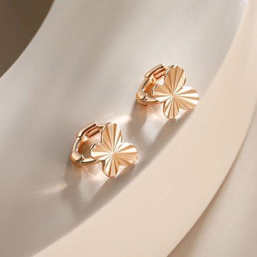 Boucles d'oreilles en métal texturées - SHEIN - Modalova