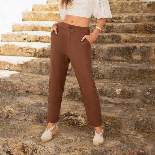 Pantalon droit - SHEIN - Modalova