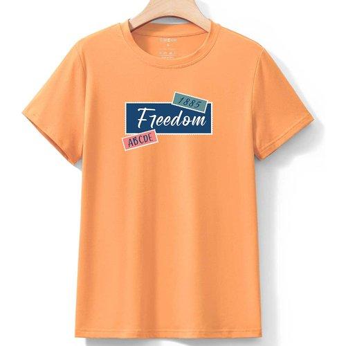 T-shirt lettre - SHEIN - Modalova