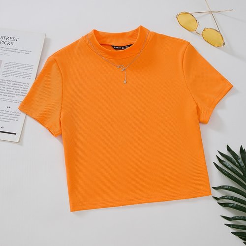 T-shirt côtelé - SHEIN - Modalova