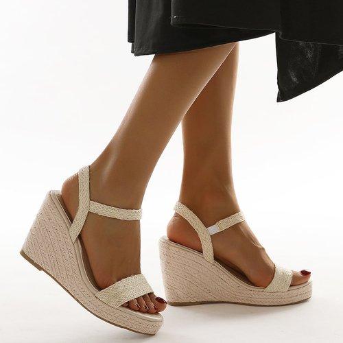 Sandales compensées espadrilles minimaliste - SHEIN - Modalova