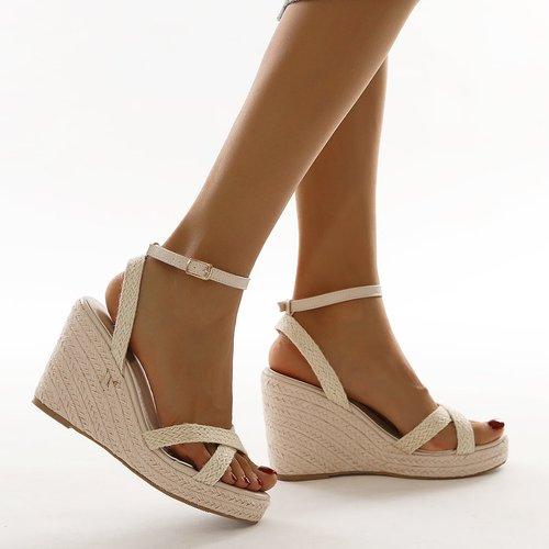 Sandales compensées espadrilles tressées - SHEIN - Modalova
