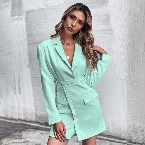 Robe blazer unicolore - SHEIN - Modalova