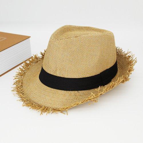 Chapeau en paille à ourlet effiloché - SHEIN - Modalova