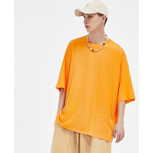 T-shirt uni col rond homme - SHEIN - Modalova