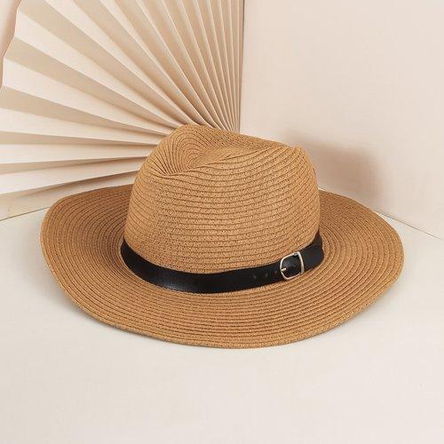 Chapeau de paille à ceintures - SHEIN - Modalova