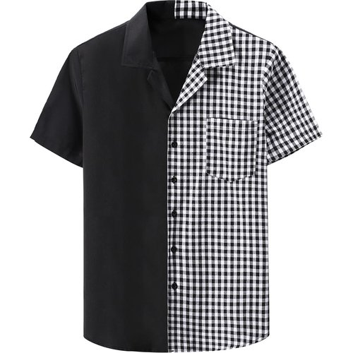 Chemise avec motif vichy - SHEIN - Modalova