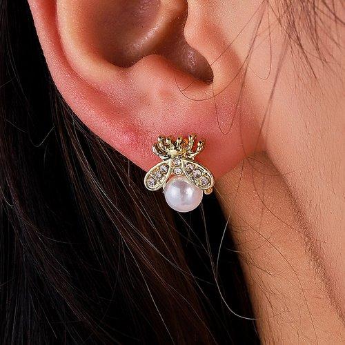 Boucles d'oreilles à perle - SHEIN - Modalova