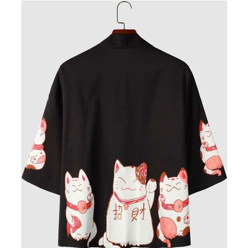 Kimono à imprimé - SHEIN - Modalova