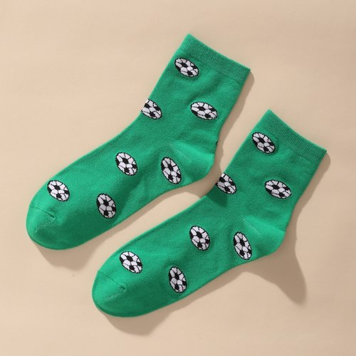 Chaussettes à imprimé football - SHEIN - Modalova