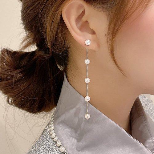 Boucles d'oreilles avec perle - SHEIN - Modalova