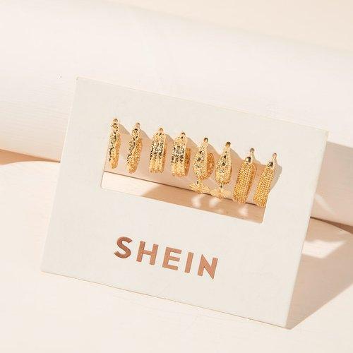 Paires Boucles d'oreilles en métal - SHEIN - Modalova