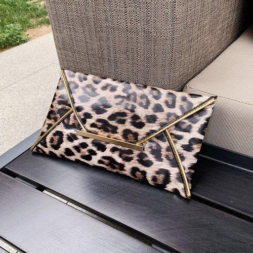 Sac enveloppe à motif de léopard - SHEIN - Modalova