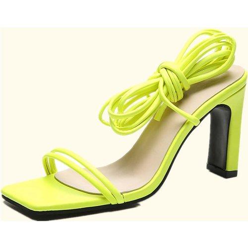 Sandales spartiates minimalistes à talons épais - SHEIN - Modalova