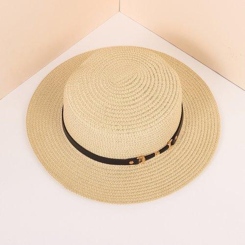 Chapeau de paille simple - SHEIN - Modalova