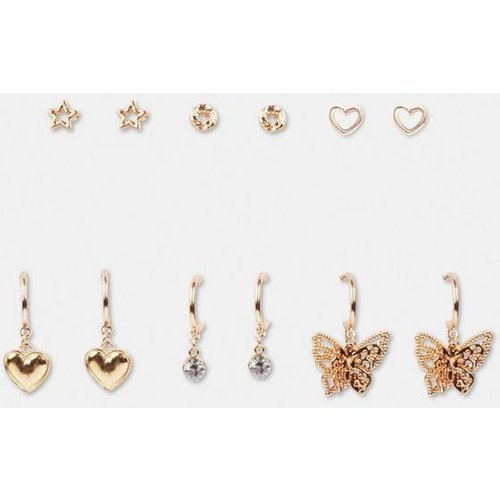 Lot de 6 boucles d'oreilles papillon aspect  - Missguided - Modalova