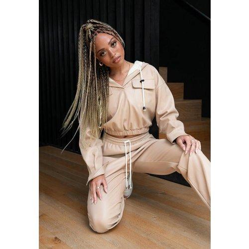 Pull à capuche gris fumé en similicuir Dani Michelle x  - Missguided - Modalova