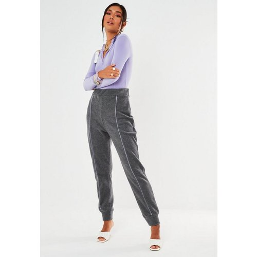 Pantalon de Jogging en Polaire avec Rayures - Missguided - Modalova