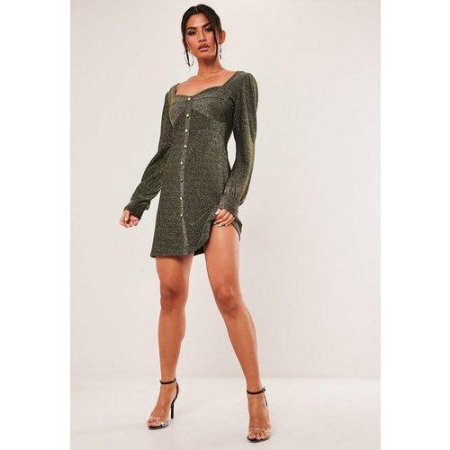 Robe scintillante à effet corset et boutons - Missguided - Modalova