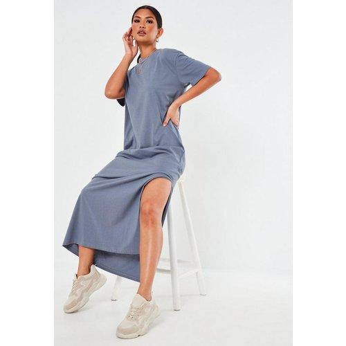 Robe t-shirt longue bleue basique - Missguided - Modalova