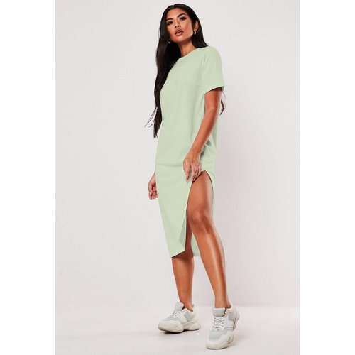 Robe t-shirt midi menthe basique - Missguided - Modalova
