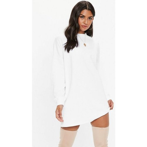 Robe sweat blanche oversize basique - Missguided - Modalova