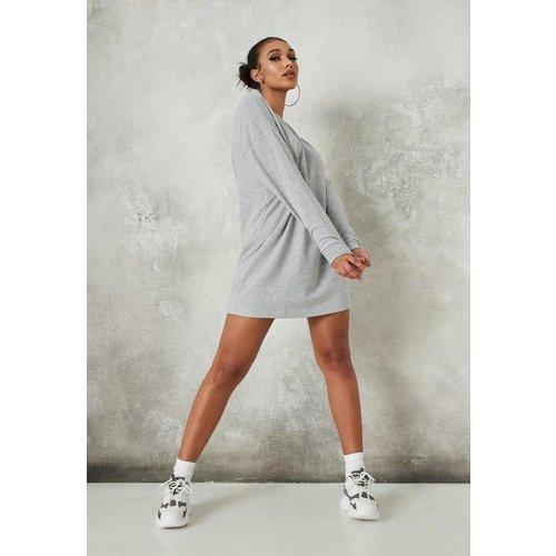 Robe sweat grise oversize basique - Missguided - Modalova