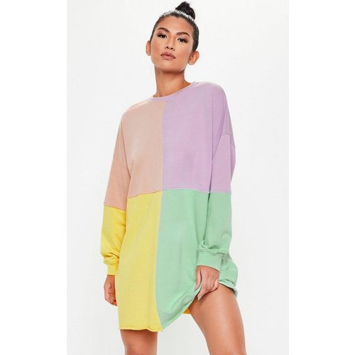 Robe sweat oversize à color block - Missguided - Modalova