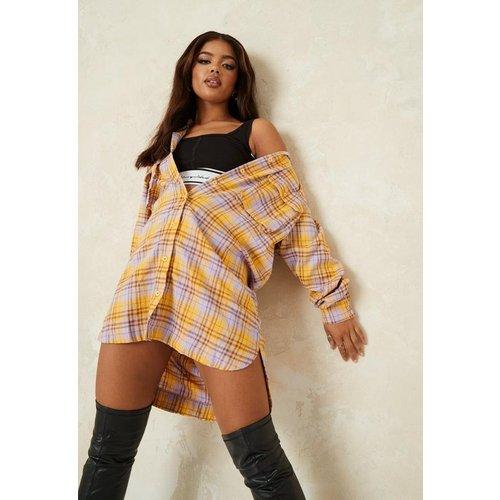 Robe chemise à carreaux oversize - Missguided - Modalova