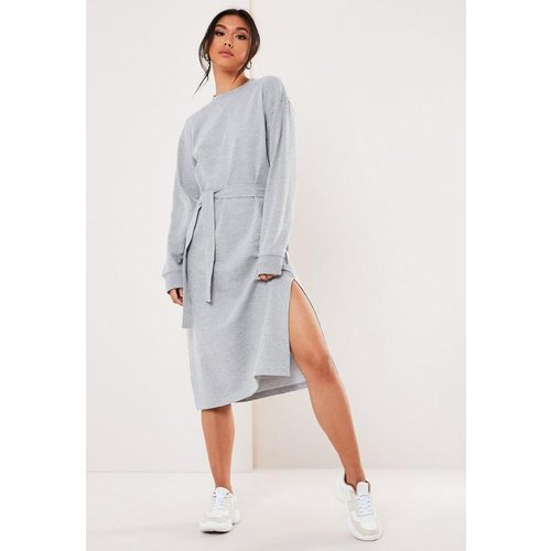 Robe Pull Mi-Longue Grise - Missguided - Modalova
