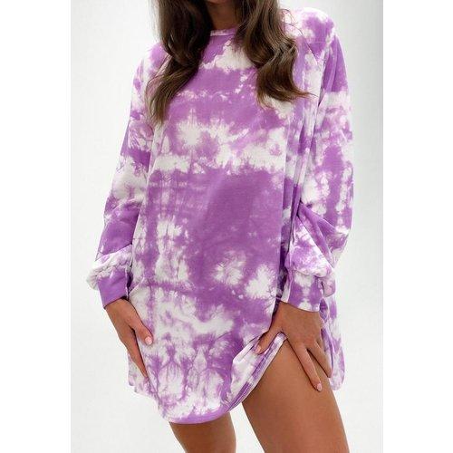 Robe sweat tie and dye oversize - Missguided - Modalova