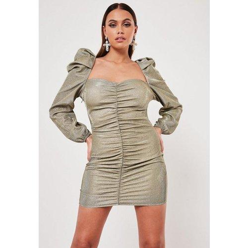 Robe courte scintillante froncée effet corsage - Missguided - Modalova