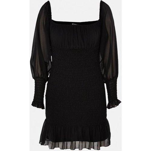 Robe courte plissée style bardot - Missguided - Modalova