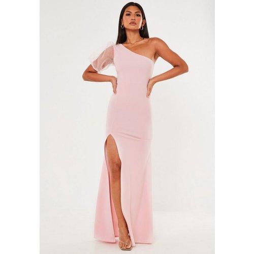 Robe longue asymétrique à manche en organza - Missguided - Modalova