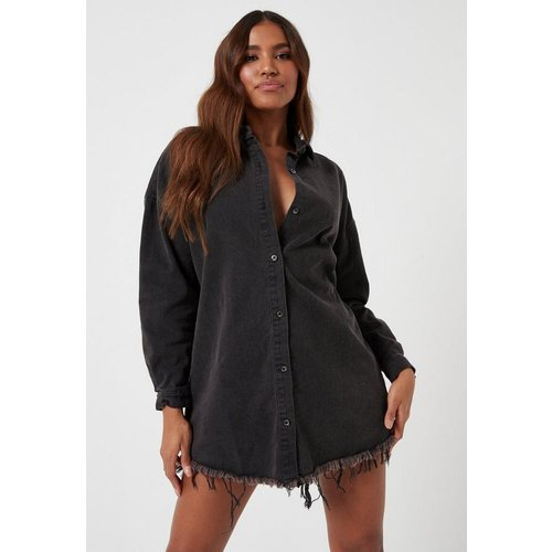 Robe-chemise en jean délavé - Missguided - Modalova